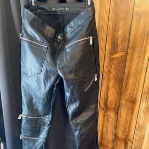ZARA leather pants